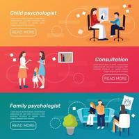 banners psicólogos aconselhando pessoas vetor