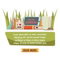 composição ortogonal de educação online vetor