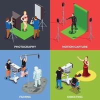 operador de videógrafo cinematógrafo pessoas 2x2 vetor
