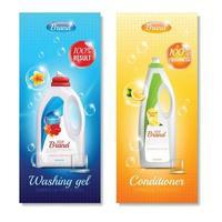 detergentes roupas faixas verticais vetor