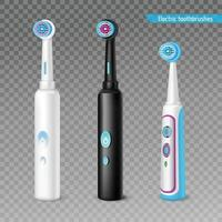 conjunto de escova de dentes elétrica vetor