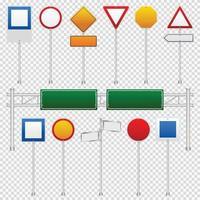conjunto de cores de sinais de trânsito vetor