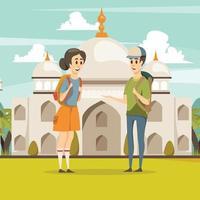 fundo de viagens na índia vetor