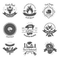 emblemas vintage de churrascaria vetor
