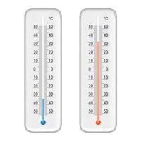 conjunto de termômetro de meteorologia vetor