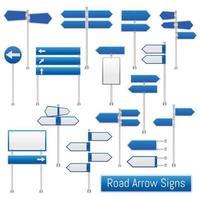 conjunto de seta do ponteiro de sinais de trânsito vetor