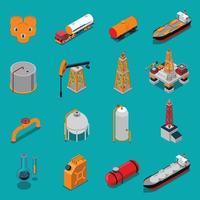 conjunto isométrico da indústria de óleo de petróleo vetor