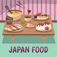 fundo de comida do japão vetor