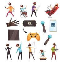 conjunto de realidade virtual vetor