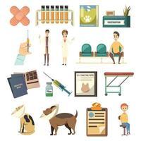 ícones ortogonais de vacinação obrigatória vetor