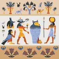 ilustração egípcia plana vetor