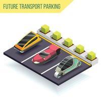 futura composição isométrica de transporte vetor