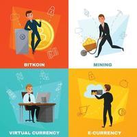 conceito de criptomoeda bitcoin
