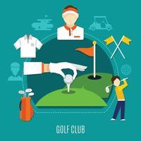 ilustração plana de golfe vetor