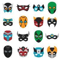 conjunto de máscaras de super-heróis vetor