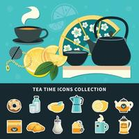 ilustração vetorial de chá vetor