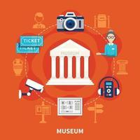 ilustração vetorial plana de museu