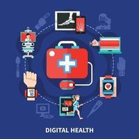 ilustração vetorial de saúde digital vetor