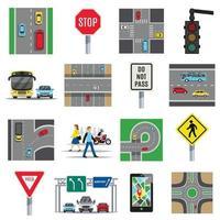 ilustração vetorial conjunto de tráfego vetor
