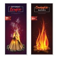 ilustração vetorial de banners de fogueira vetor