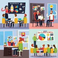 coaching de negócios pessoas planas ortogonais 2x2 vetor