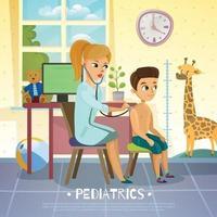 ilustração do hospital do departamento de crianças pediátricas vetor