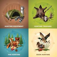 conceito de design de caça vetor