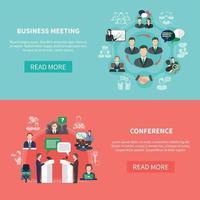 ilustração vetorial de reunião de negócios vetor