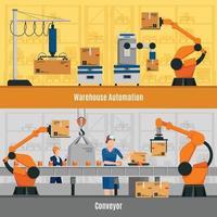 composições de automação plana vetor