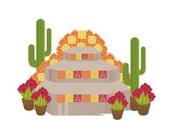 altar mexicano do dia de los muertos vetor