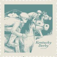 Cartão de Kentucky Derby vetor