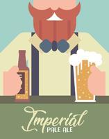 Vetor de ilustração plana Imperial Pale Ale