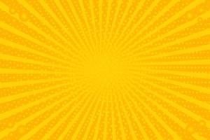 fundo amarelo retro vintage com raios de sol vetor