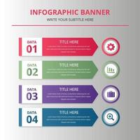 modelo de banner infográfico de negócios vetor