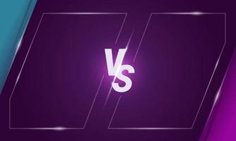 versus design de fundo da tela de letras vetor