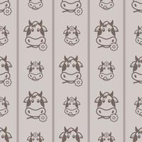 desenho de padrão de papel digital de vaca vetor