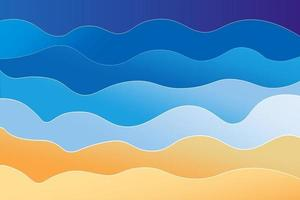 camada de praia elegante com fundo ondulado vetor