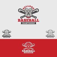 modelo de design de logotipo de beisebol