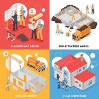 conceito de design de construtores vetor
