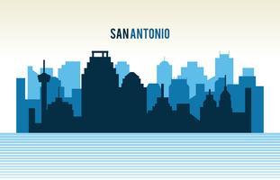 Silhueta de San Antonio vetor