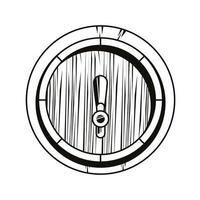 ícone isolado de barril de cerveja vetor