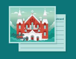 Cartão de Augusta Geórgia vetor