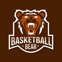Mascote do urso de basquete vetor