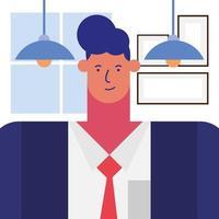 desenho de empresário em design de vetor de escritório