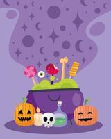 pôster de celebração de halloween