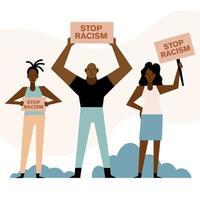 demonstração de matéria de vida negra vetor
