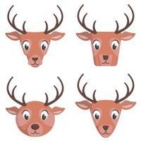 conjunto de cervos dos desenhos animados.