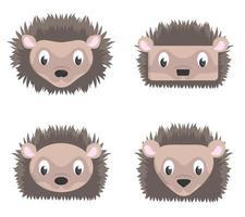 conjunto de ouriços dos desenhos animados.