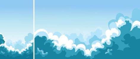 céu azul com nuvens vetor