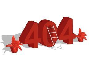 página 404, modelo de design não encontrado vetor